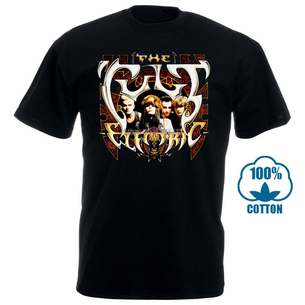The Cult Electric »; 87 dur Goth Black Rock T-shirt