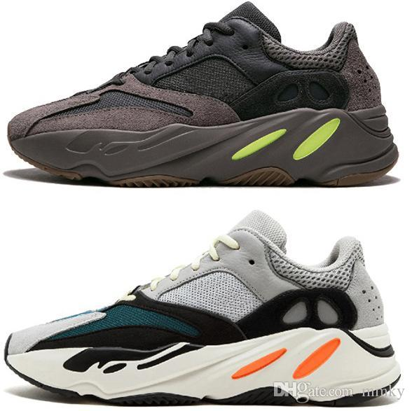 8f9c43e1c Acheter Adidas Yeezy Boost Runner 700 Retro Date Kanye West Wave Runner 700  Chaussures De Course En Plein Air White Core Black Authentic 700 Course En  Plein ...
