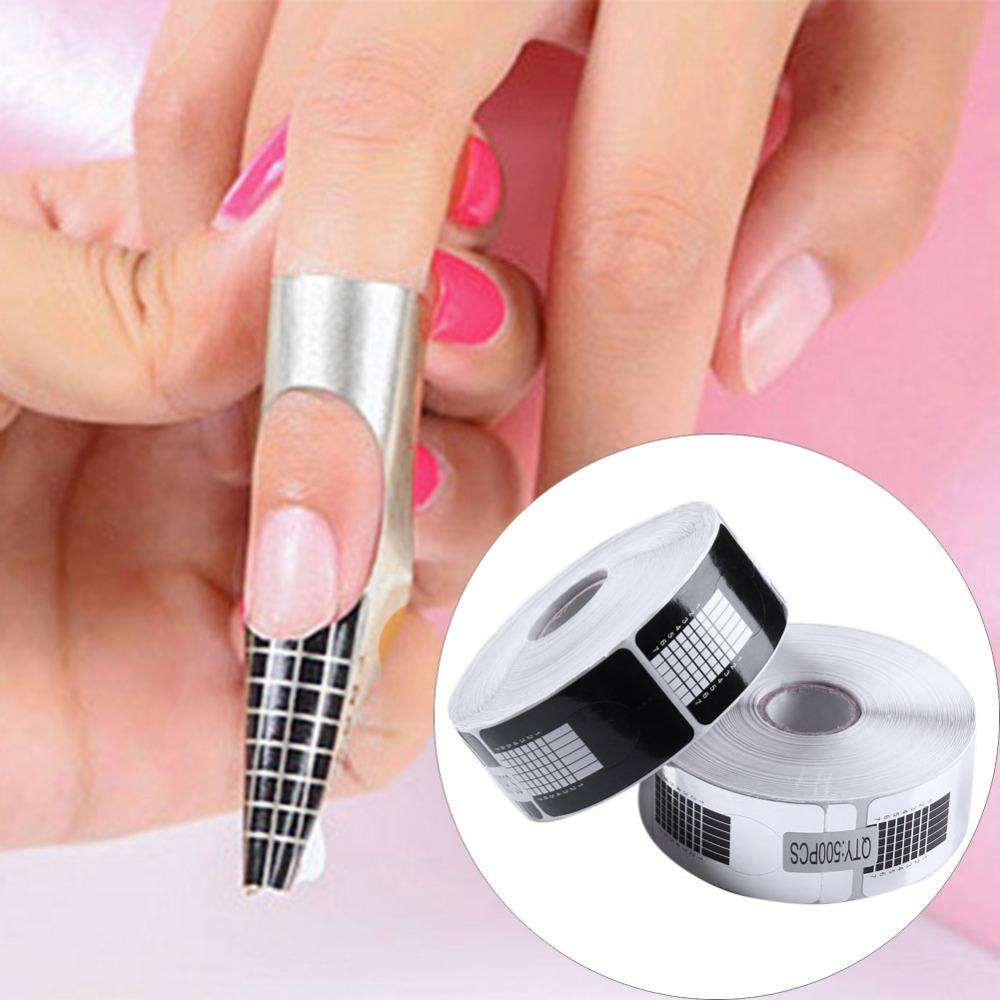 Acrylic Extensions Guide Sticker Tape Extension Adhesive Forms ...