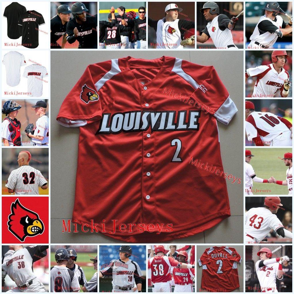 low priced 2c04b f5964 Mens Custom Louisville Cardinals Baseball Jersey Dan McDonnell Zack Burdi  Adam Engel Adam Duvall Brendan McKay Louisville Cardinals Jersey