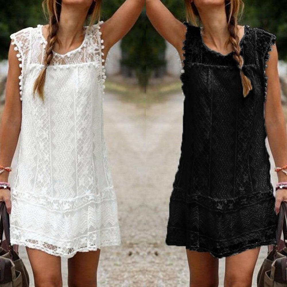 e725be0c8e2 5XL Plus Size Summer Dress 2019 Women Casual Beach Short Dress Tassel Black  White Mini Lace Dress Sexy Party Dresses Vestidos Sexy Dresses Vintage  Dresses ...