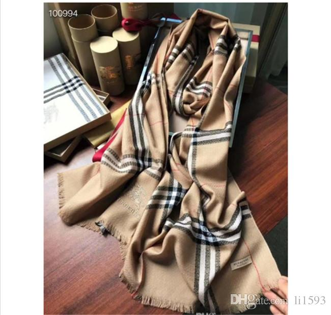 Long High quality 100% ring velvet Scarves Designer Woman soft Scarf Luxury shawl Best-selling classic Men scarf size220-70 with box