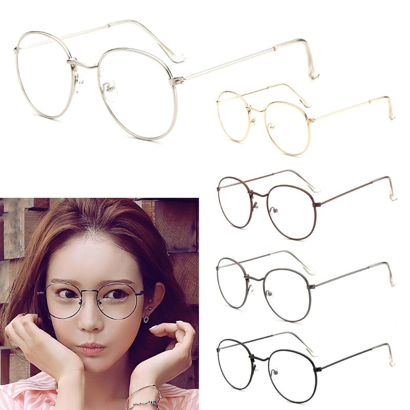 2cbe287cff4 Vintage Men Women Eyeglass Metal Frame Glasses Round Spectacles ...