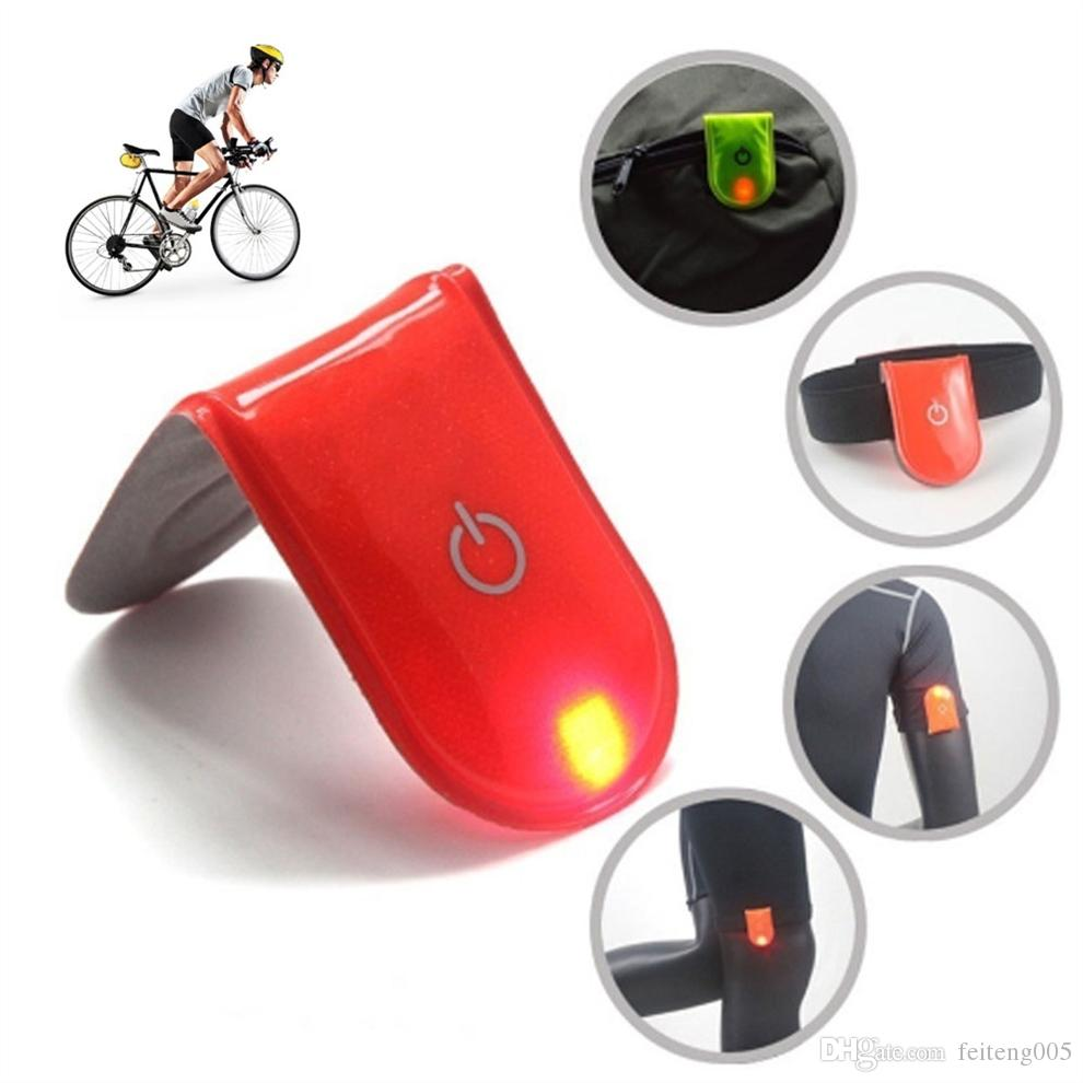 Sports de plein air Night Running Light Safety Jogging Led Jambe Bras Avec Aimant Avertissement Bracelet Vélo Vélo Partie De Vélo # 24567