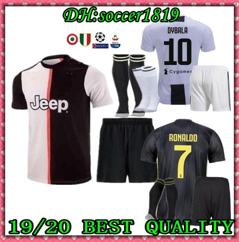 d33773560 Adult kit +SOCKS 2019 Juventus RONALDO soccer jersey 19 20 MANDZUKIC  football shirt men youth set DYBALA JUVE Camiseta de futbol Shirt