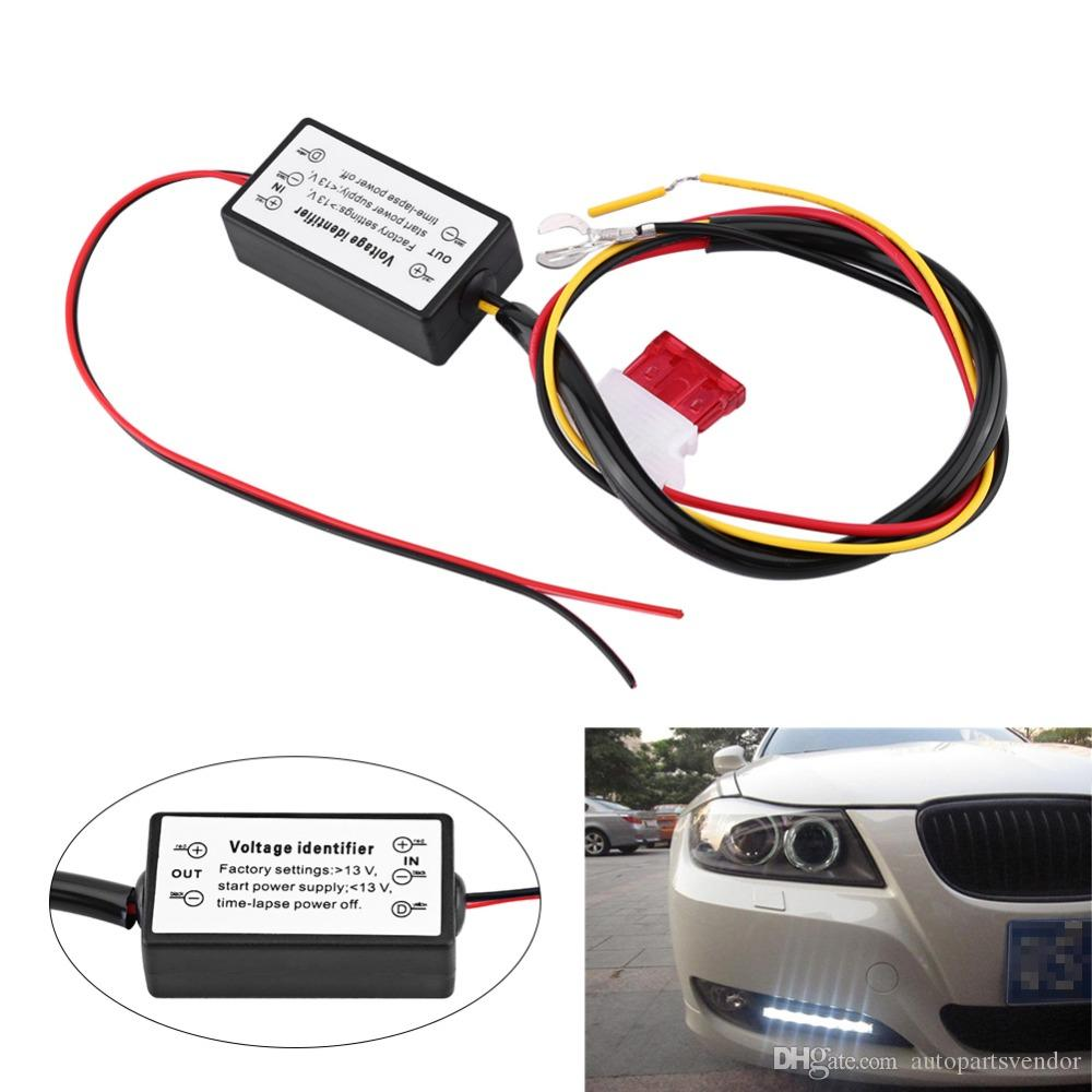 Drl Controller Auto Car Led Daytime Running Light Relay Harness