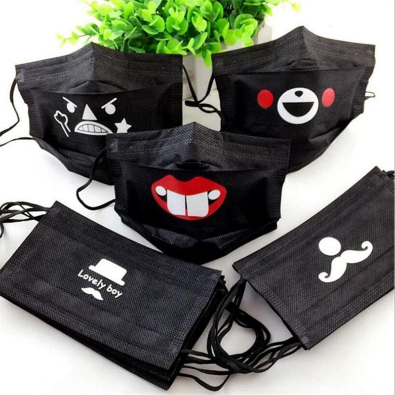 Damen-accessoires 2 Stücke Unisex Koreanischen Stil Anti Staub Baumwolle Mund Maske Atmungs Casual Ohrbügel Atemschutz