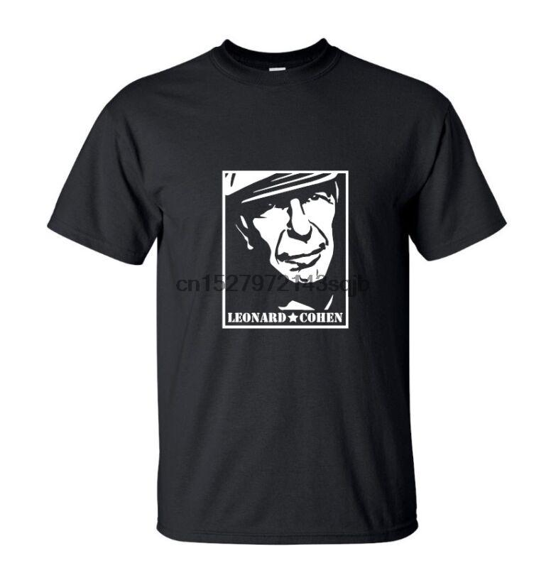 dfd7a98a886 Leonard Cohen Face T Shirt NEW Music Band Black Or White Order T Shirts  Quality T Shirts From Sideceam
