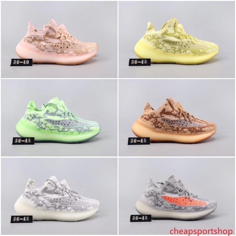 Kanye West New V3 Ange Noir Alien Sonorité jaune vague FB6878 Runner Chaussures de course Sport Sneakers guerriers en terre cuite Chaussures de design de luxe
