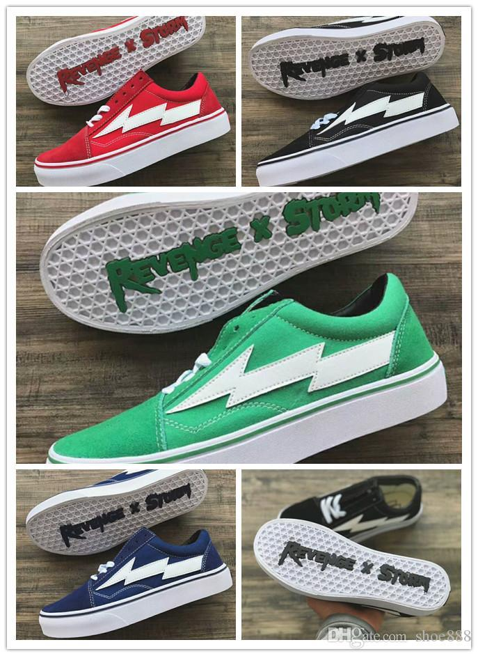 5ea7ba729fad New Revenge X Storm Old Skool Designer Cavnas Sneakers Womens Men Low Cut  Skateboard Red Blue White Black Casual Running Shoes Shoes For Sale Cheap  Shoes ...