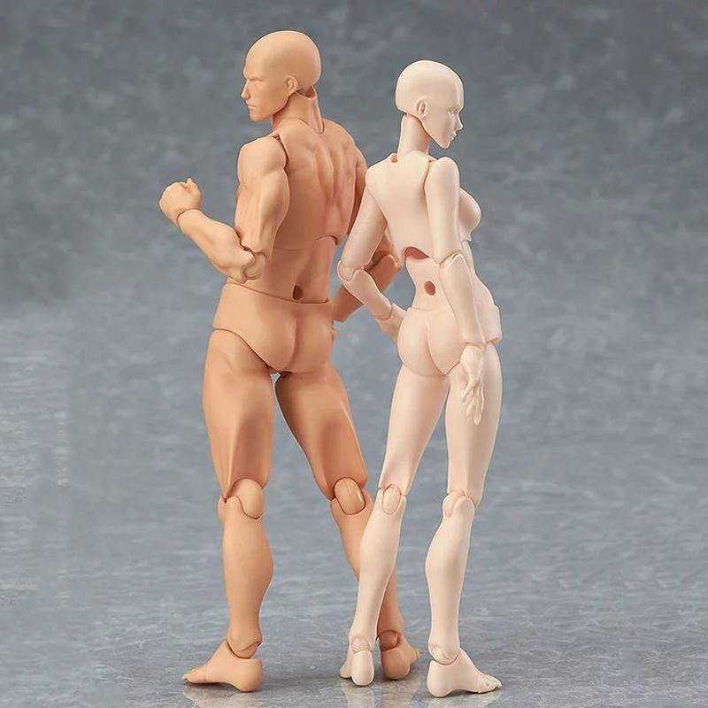 13cm Action Toys Artist Movable Male Female Joint Figure Body Model  Mannequin Bjd Art Sketch Draw Figures Kawaii Figurine C19041501