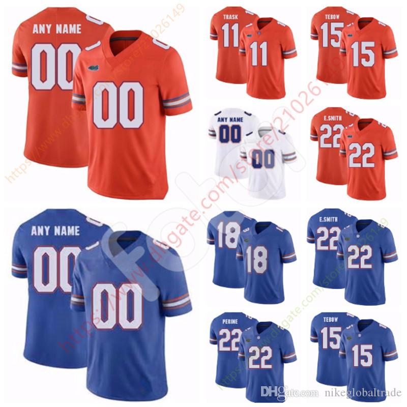 newest 07f41 d8a32 Custom NCAA Florida Gators football Jersey Trask 81 Aaron Hernandez 14  Emory Jones 6 Jeff Driskel 15 Tim Tebow Any Name Number Personalized