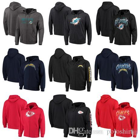 Miami Angeles City Chiefs Chargers Dolphins G-III Sports de Carl Banks - Sweat à capuche zippé Perfect Season - Charcoal