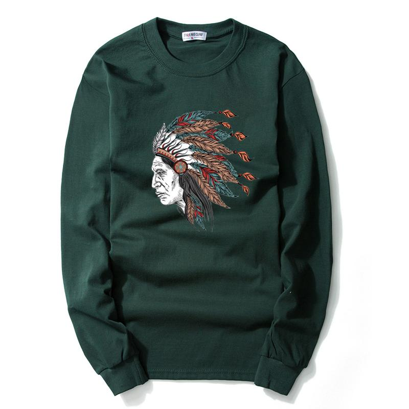 60c50e0662e04d Men Indian Chiefs T Shirt Long Sleeves Cotton Printing Funny T Shirts  Volkswagen Printing T Shirts Streetwear Big Size Online Tee Shirts Shopping  Funniest ...