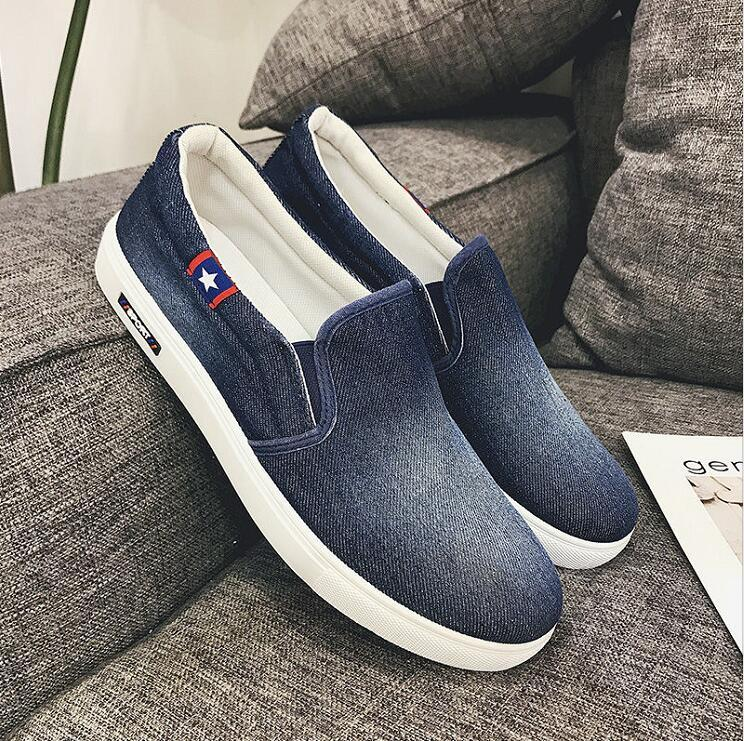 Denim On Chaussures Chaussure Homme Décontractées Sneakers Slip Mode Oxfords Printemps 2019 De Hommes Toile QrEoeCdxBW