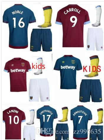 2019 Best Quality Kids Suit 2018 2019 West Ham United Home Soccer Jersey 18  19 CHICHARITO Football Jerseys CARROLL SAKHO AYEW Soccer Shirt From  Zz995635 dafb0939e
