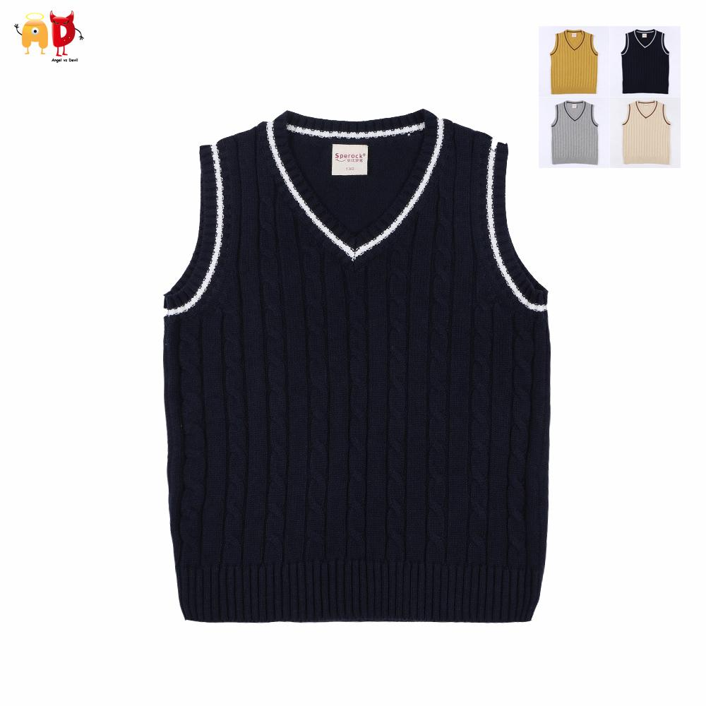 Good Quality Boys Girls Sweaters Vests Teenagers Winter Spring