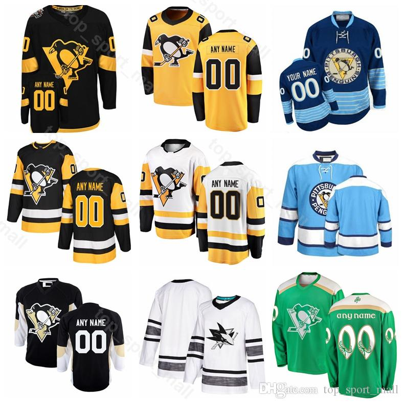 another chance 0fba9 efe1f Pittsburgh Penguins Evgeni Malkin Jersey Ice Hockey Sidney Crosby Phil  Kessel Patric Hornqvist Matt Murray Mario Lemieux Black Yellow White