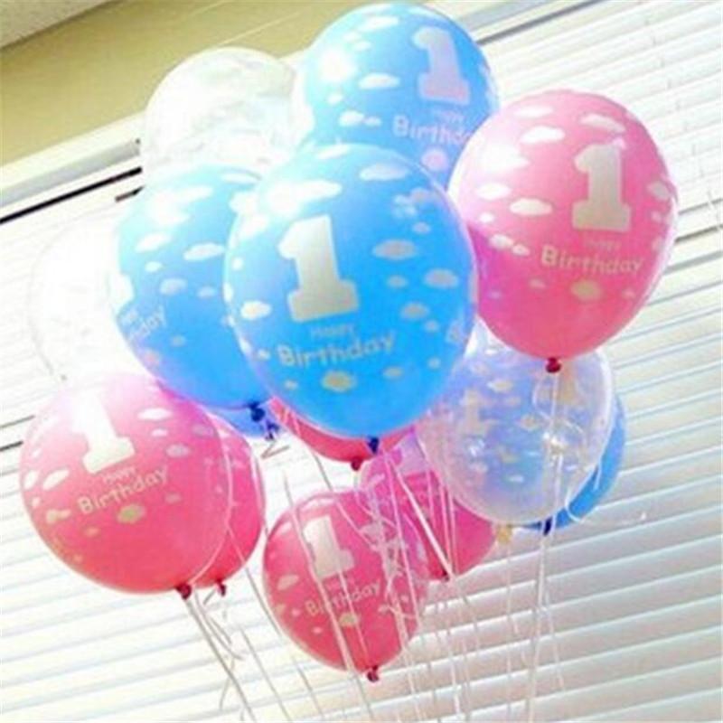 12 Pulgadas De Látex Globo Libre Número 1 Globo De Impresión Látex Globo Bebé Cumpleaños Fiesta De Cumpleaños Decoración Regalo Al Por Mayor