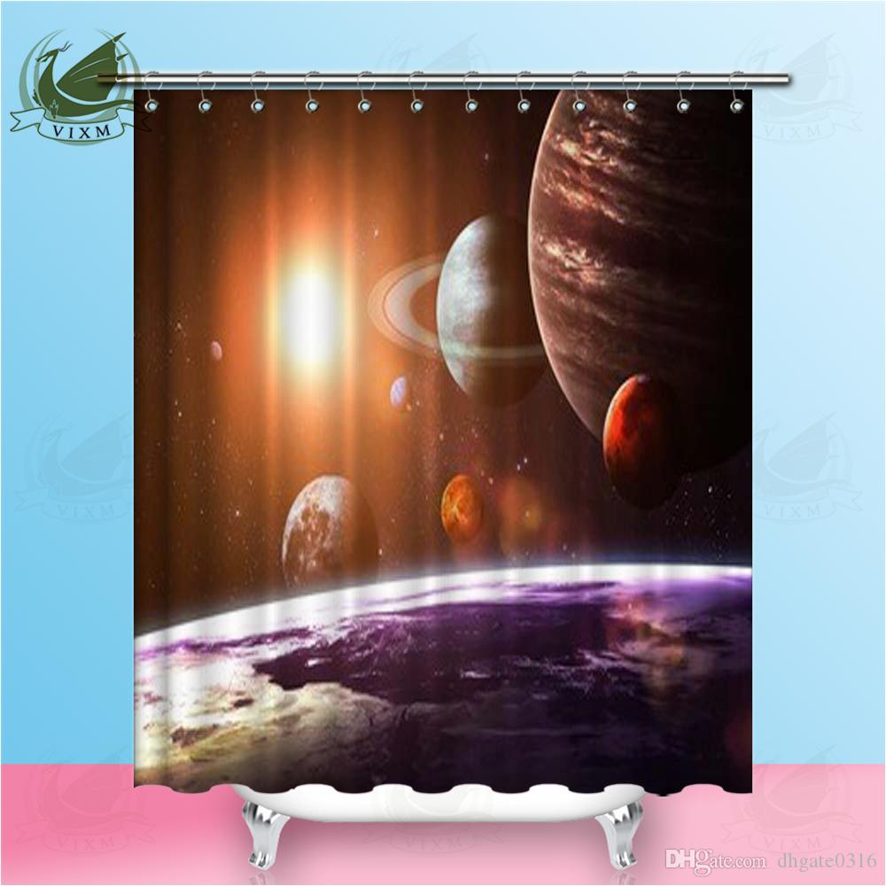 2019 Vixm Cosmic Sci Fi Solar System Abstract Background Shower Curtains Watercolor Waterproof Polyester Fabric For Home Decor From Dhgate0316