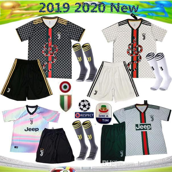 957e5eac25a New 2019 2020 RONALDO JUVENTUS Soccer Jersey 19 20 JUVE Home Away ...
