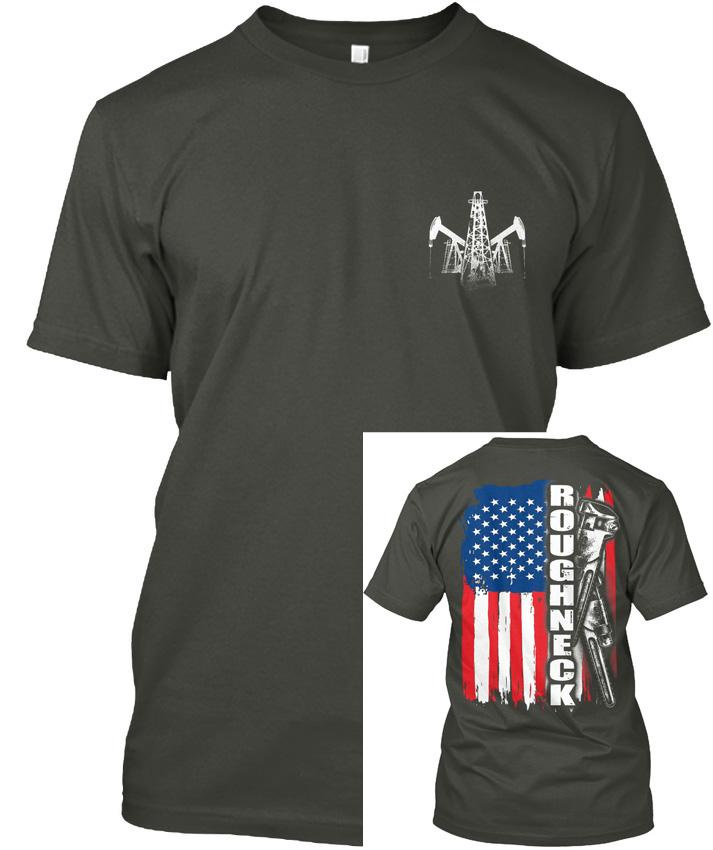 023e9227 Oilfield Workers American Flag Roughneck Popular Tagless Tee T Shirt Unique T  Shirts Cheap T Shirts Online From Restdaystore, $24.2| DHgate.Com
