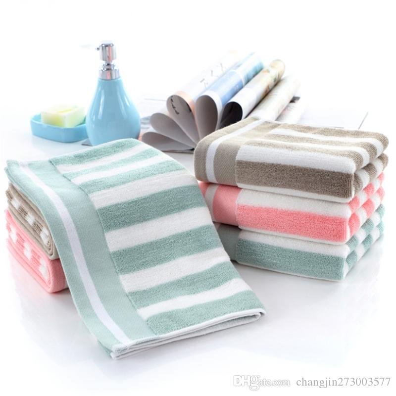 Towel factory outlets Cotton thickening 130g 32 strands of color strips can be customized LOGO