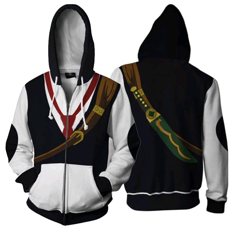 Anime Os Sete Pecados Mortais Cosplay 3D Men Jacket Meliodas Do Dragão do Wrath Zipper Hoodies Moletom Casaco atacado