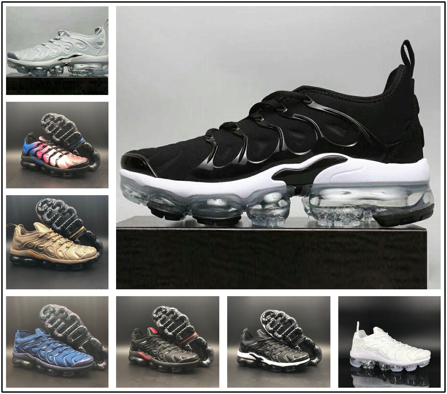 release date 8e3fb 8b6b7 Acheter Nike TN Plus Vapormax Air Max Airmax 2019 TN Plus VM Air Sole  Hommes Femmes Designer Chaussures De Course En Métallique Le Plus Récent  Athlétique ...
