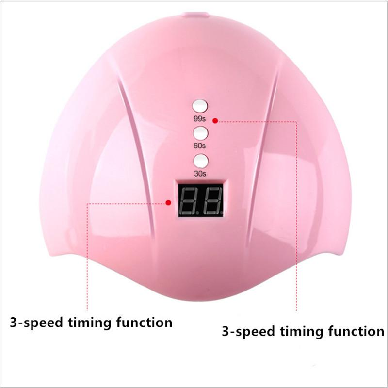 36W Intelligent Induction Nail Lamp LED/UV Phototherapy Machine Baking Lamp Automatic Three-Stage Timing Nail Glue Baking