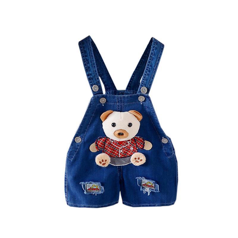008d58ba31c1 Good Quality Baby Boy Summer Pants Kids Shorts Denim Overalls Jeans Cartoon Kids  Denim Overall Newborn Bebe Short Jumpsuits Toddler Suspenders Boy ...