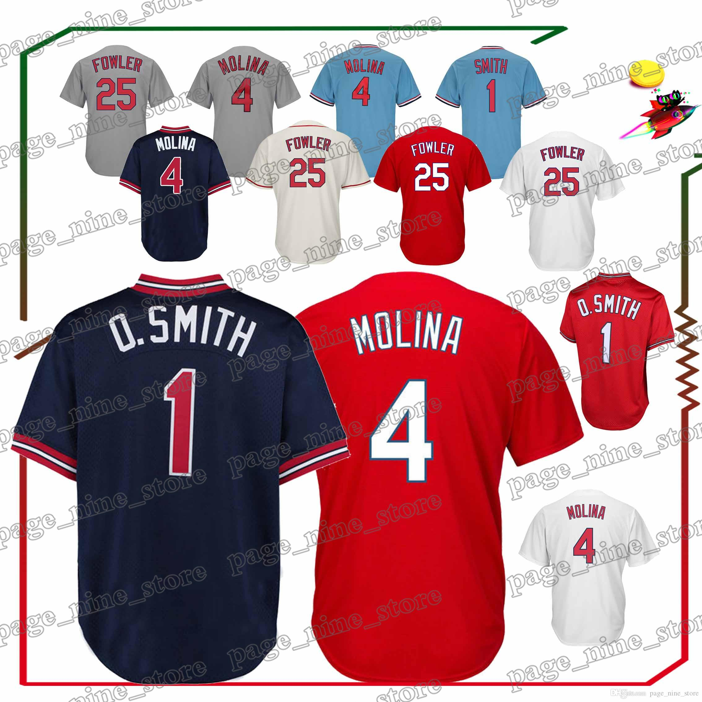 5966db6826d8 2019 St. Louis Cardinals Baseball Jerseys 4 Yadier Molina 25 Dexter Fowler  Hot Sale High Quality Jersey Sportswear From Page nine store