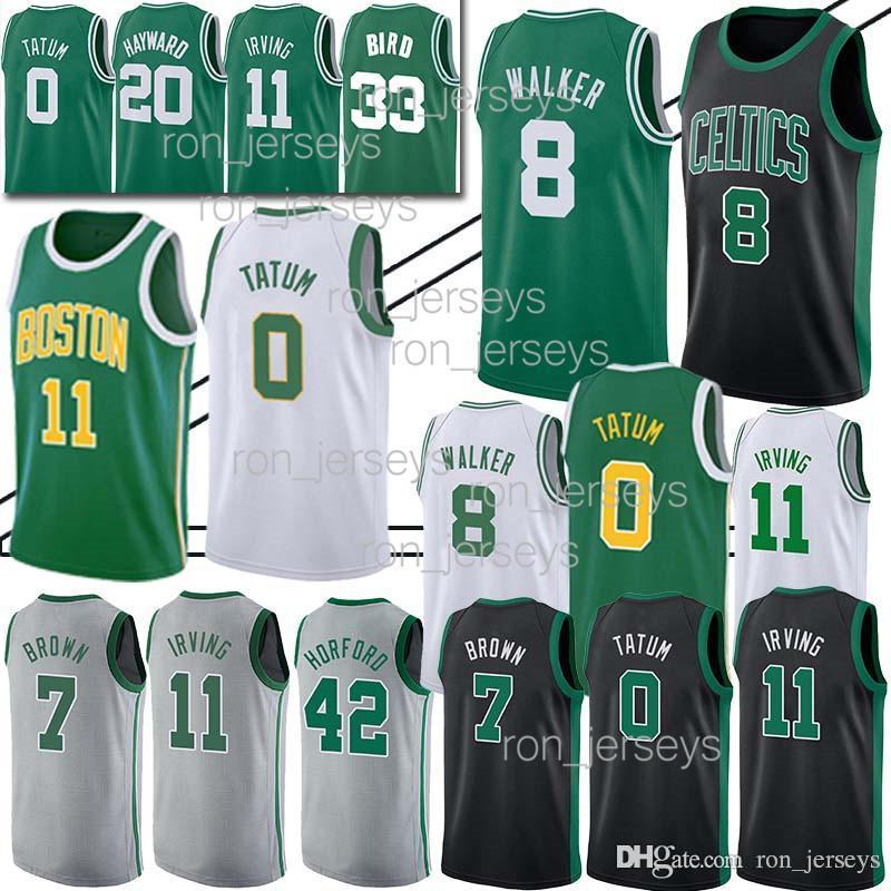 low priced b172c 3004c 8 Walker Jayson 0 Tatum Boston Jersey Celtic 20 Hayward 7 Jaylen Jersey  Brown 42 Al Jersey Horford men