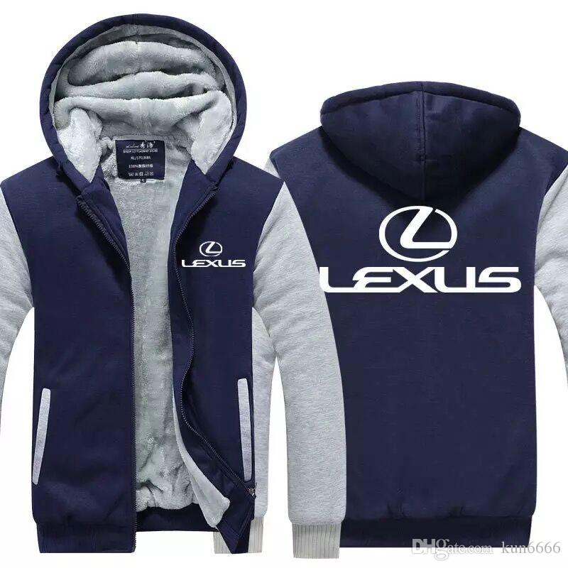 bd5d6a2d0 2019 USA EU Size LEXUS Logo Sweatshirts 2019 Cardigan Coat Winter Thicken  Fleece Cotton Zipper Casual Jacket Super Warm Sweatshirt Plus Size From  Kun6666, ...