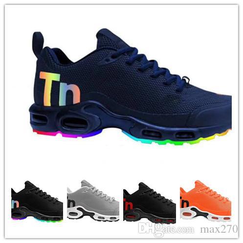 eabc3e4f582 Fashion Tn Mercurial Plus White Silver Mens Running Shoes Tn Kpu Male Pack  Triple Black Men Basket Requin Chaussure Homme Tns Sneakers Ladies Running  Shoes ...