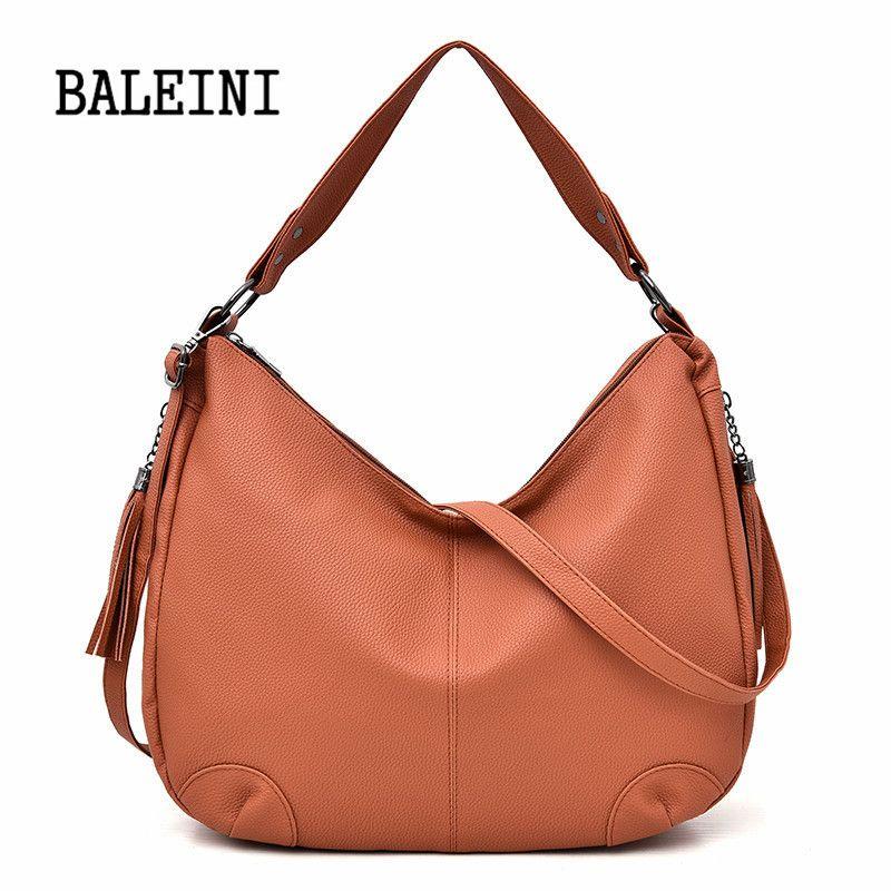 PU Leather Handbags Big Women Bag High Quality Fashion Designer Female  Casual Shopping Totes Tassel Shoulder Bags Ladies Purses Leather Bags  Designer Purses ... 79b8b4db5a8eb