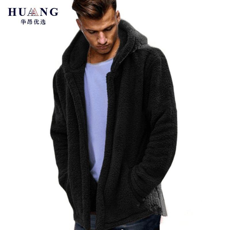 286ff580d626 ... E Donne Autunno Inverno A Maniche Lunghe Con Cappuccio In Pile Mohair  Solido Punto Cardigan Aperto Moda Con Cappuccio Giacca Cappotto Fuzzy Plus  Size A ...