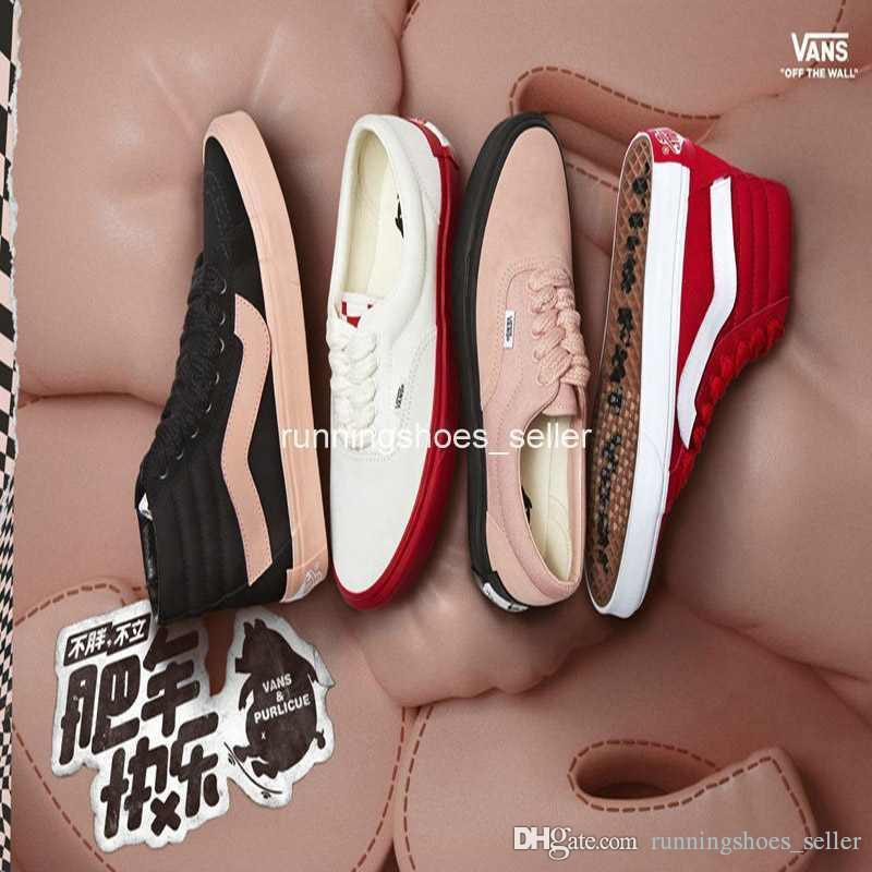d4dbfb3618b 2019 2019 Sk8 Hi Purlicue X Vans Year Of The Pig Old Skool Men Womens  Casual Shoes Canvas Top Quality Luxury Designer Sneakers Eur 36 44 From ...