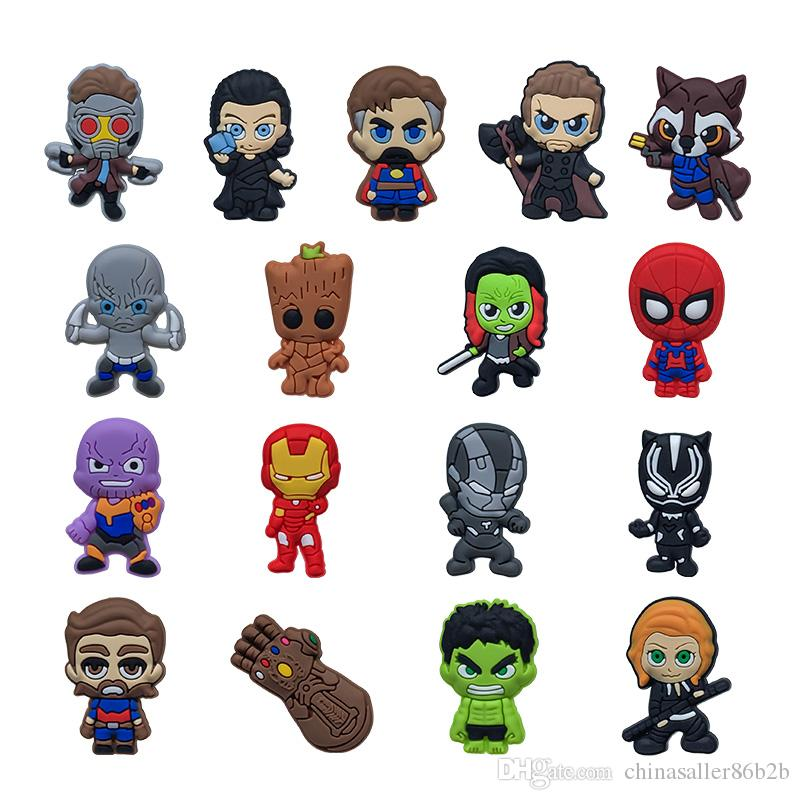 MOQ=25PCS Avengers 3 Infinity War PVC Figure Icon Brooch Pins Badge Cute  Pin Button Badge Pinback School Bag Clothing Cap Decoration as Gift