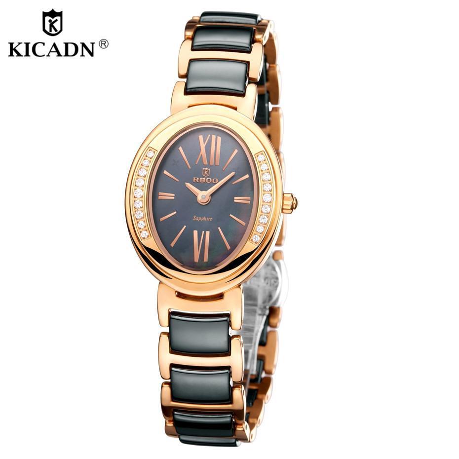 Elegante Rejoj Frauen Mode Quarz Gold Kicadn Weibliche Kleid C19010301 Mujer Armbanduhr Damen Keramik Uhr Luxus Uhren sxrtdChQ