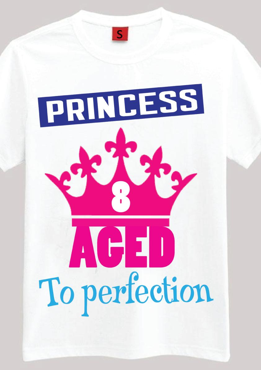 This Princess Is 8 8th Birthday Gift T Shirt For Year Old Girls Idea Funny Unisex Casual Tshirt Printing Of All That From