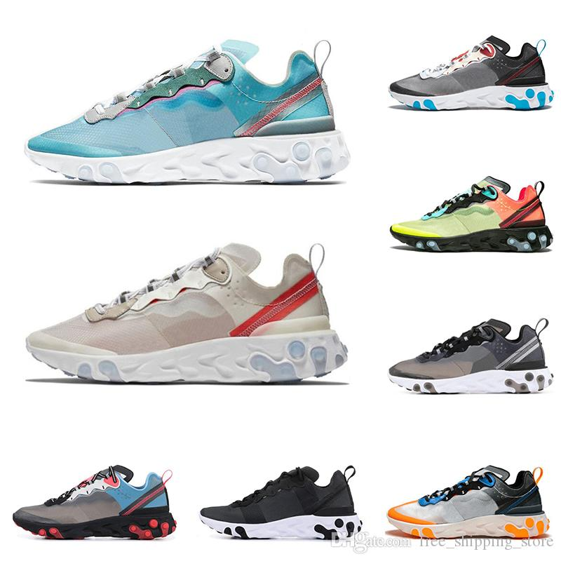dec0c6ff3a React Element 87 running shoes for men women top quality Royal Tint Sail  Anthracite black mens trainer fashion breathable sports sneakers