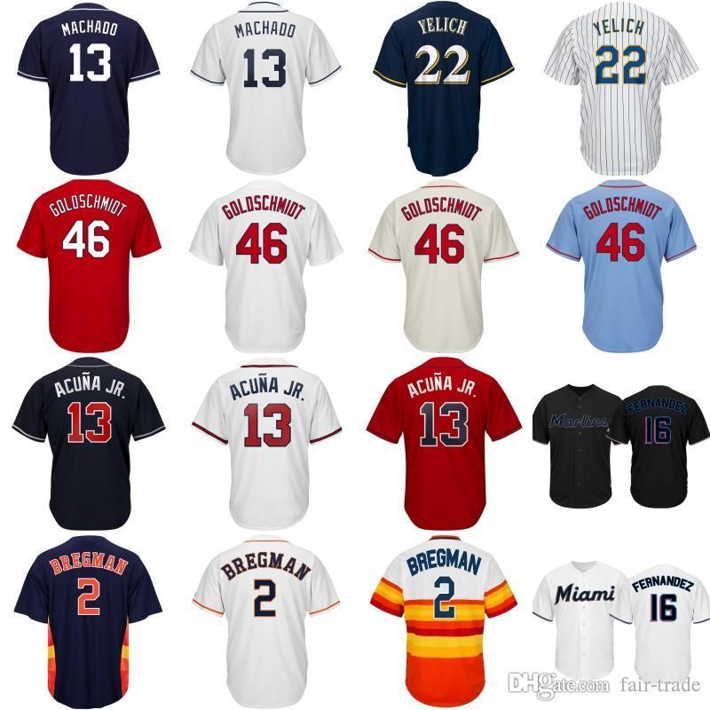 3e356f04f Compre Atlanta 13 Ronald Acuna Jr. Braves Jersey Acuña 2019 Cool Cool Base  Houston   2 Alex Bregman Astros Camisetas De Béisbol Bordados Logotipos A   16.34 ...