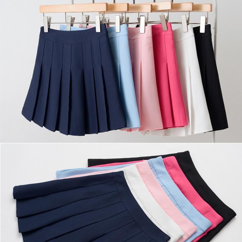 f23637b0d7 2019 New Spring High Waist Ball Pleated Skirts Denim Skirts Solid A Line  Sailor Skirt Plus Size Japanese School Uniform From Godblessus16388802, ...
