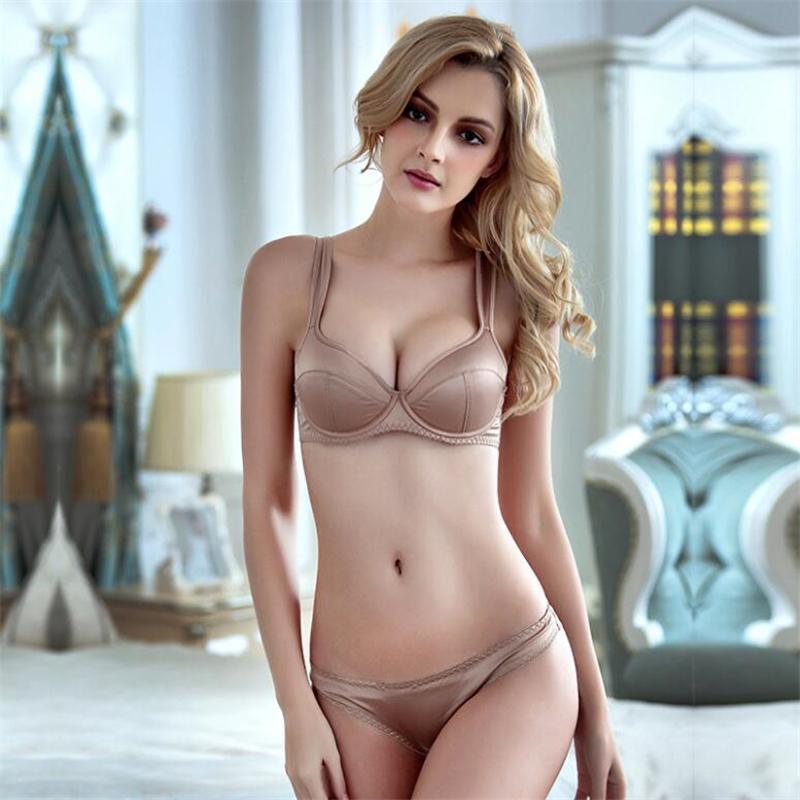 e48271205a 2019 Underwire Bra Set Women Briefs Sexy Lingerie Push Up Satin Underwear  Set Bras For Women Seamless Complete Sets Of Underwear From Youerclothing
