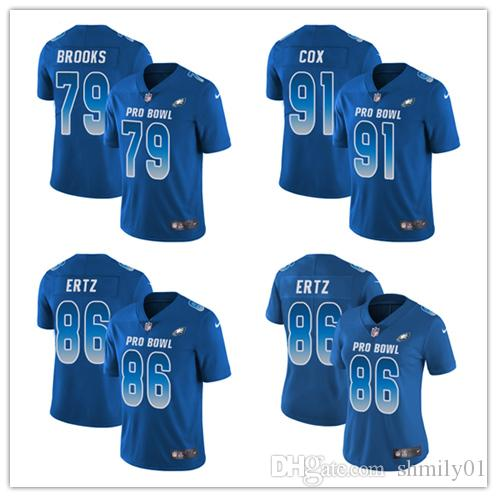 86 Zach Ertz Limited Jersey Philadelphia Men S Eagles Royal Blue NFC 2019  Pro Bowl Football Jersey Mens Suits Suit From Shmily01 b67c78646