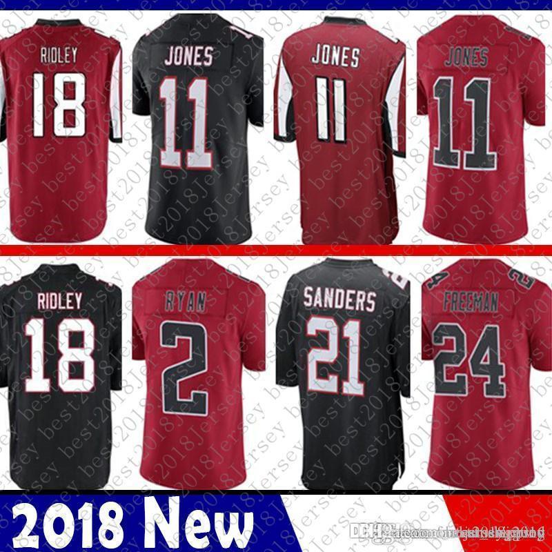 sports shoes 52c72 7db22 Limited Atlanta 18 Ridley Falcons Jersey 2 Matt Ryan 11 Julio Jones 21  Deion Sanders 24 Devonta Freeman Football Jerseys Color Rush
