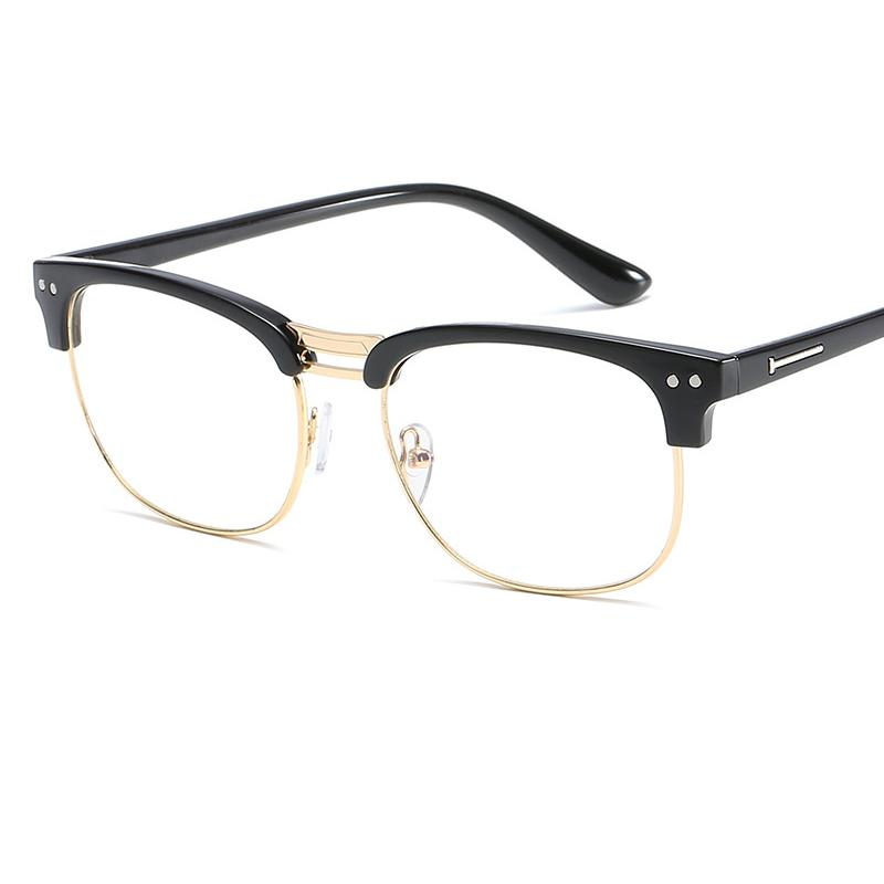 2a3d72e784 2019 Exquisite Oval Fashion Personality Glasses Frame Trend Metal Retro  Rice Nail Decoration Flat Mirror Student Art Glasses Frame.