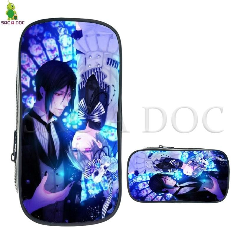 1a4820faab1 2019 Black Butler Ciel Sebastian Cosmetic Case Large Stationery ...