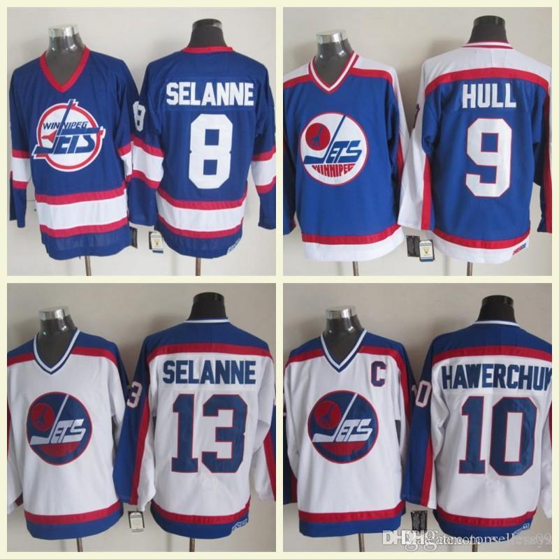 ... australia 2018 winnipeg jets hockey jerseys 10 dale hawerchuk 9 bobby  hull 13 teemu selanne 16 de9887c52